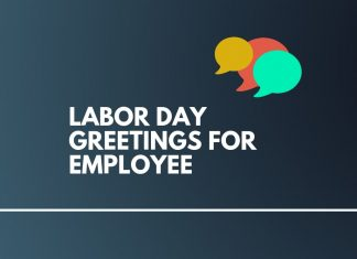 Labor Day Greetings for Employees