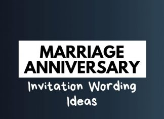 Marriage Anniversary Invitation Wording