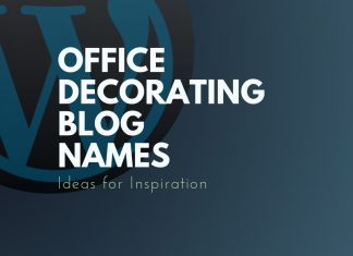 office decorating blog names