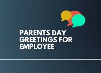 Parents Day messages for Employees