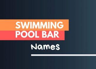 swimming pool bar names