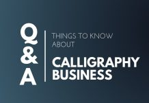 Things know Calligraphy business