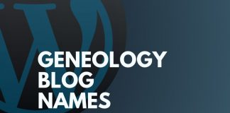 Genealogy Blog Names