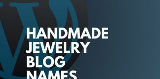 Handmade Jewelry Blog Names