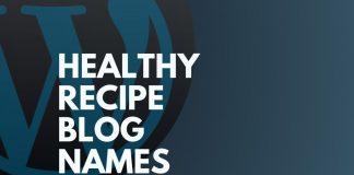 healthy recipe blog names