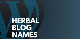 Herbal Blog Names