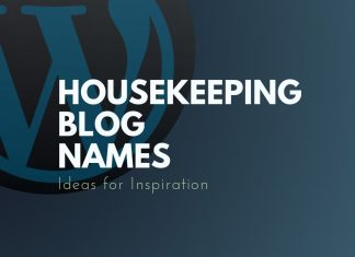 Housekeeping Blog Names