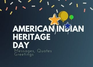 American Indian Heritage day Messages