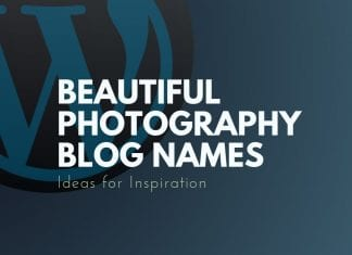 Photography Blog Names