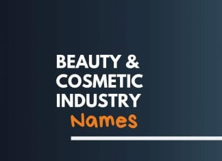 Beauty Cosmetic Industry names
