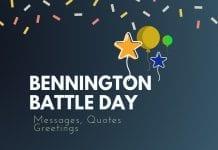 Bennington Battle Day Messages