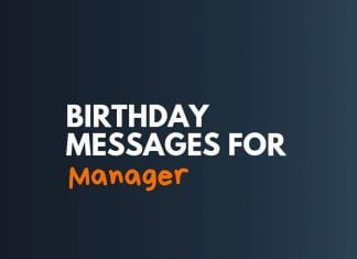 Birthday Message for Manager