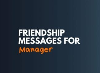 Friendship Messages to Manager
