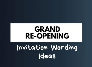 Grand Reopening Invitation Wordings