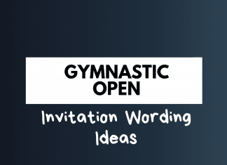 Gym Opening Invitation Wordings
