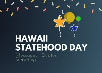 Hawaii Statehood Day Messages