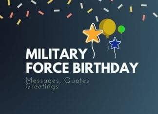 Military Force Birthday Best Messages
