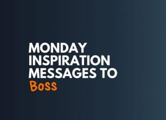Monday Inspiration Messages to Boss