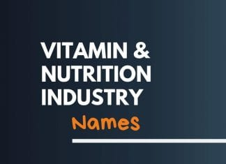 Vitamins and Nutrition Industry Names