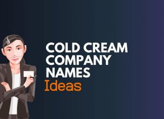 Cold Cream Company Names Ideas