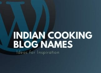 Indian Cooking Blog Names