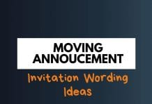 Moving Announcements invitation Wording