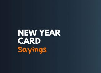Happy New Year Cards Sayings