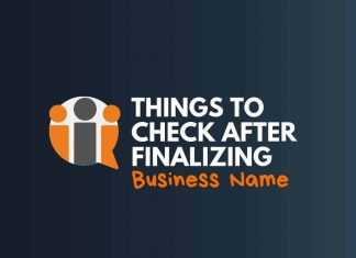 things to check after finalizing business name