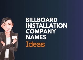billboard installation company names ideas