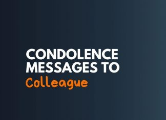 Condolence Messages to Colleague