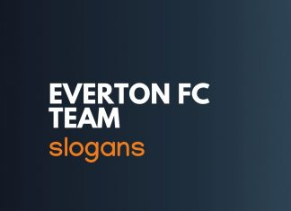 Everton Fc Football Team Slogans