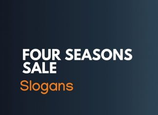 Four Seasons Sale Slogans