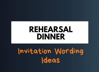 Rehearsal Dinner Invitations Wording
