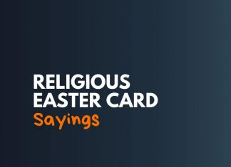 Religious Easter Card Sayings