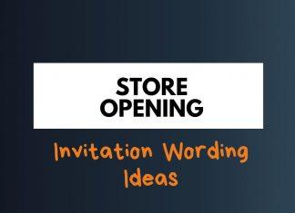 Store Opening Invitation Wording