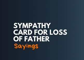 Sympathy Card Sayings for loss of Father