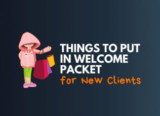 things to put in customer welcome packet