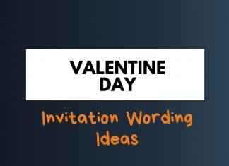 valentine's day invitation wording