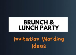 Brunch & Lunch Party Invitation wordings