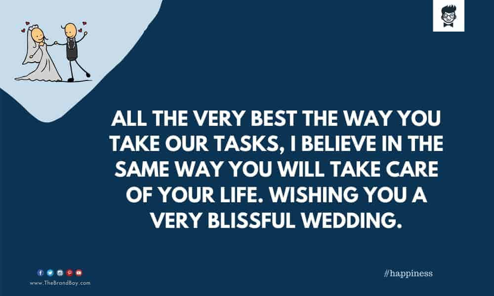 good Wedding Wishes to the Peon