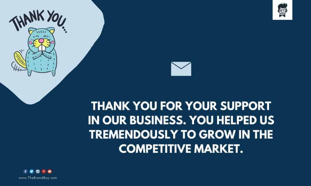 catchy Business Thank you Messages for Dealer