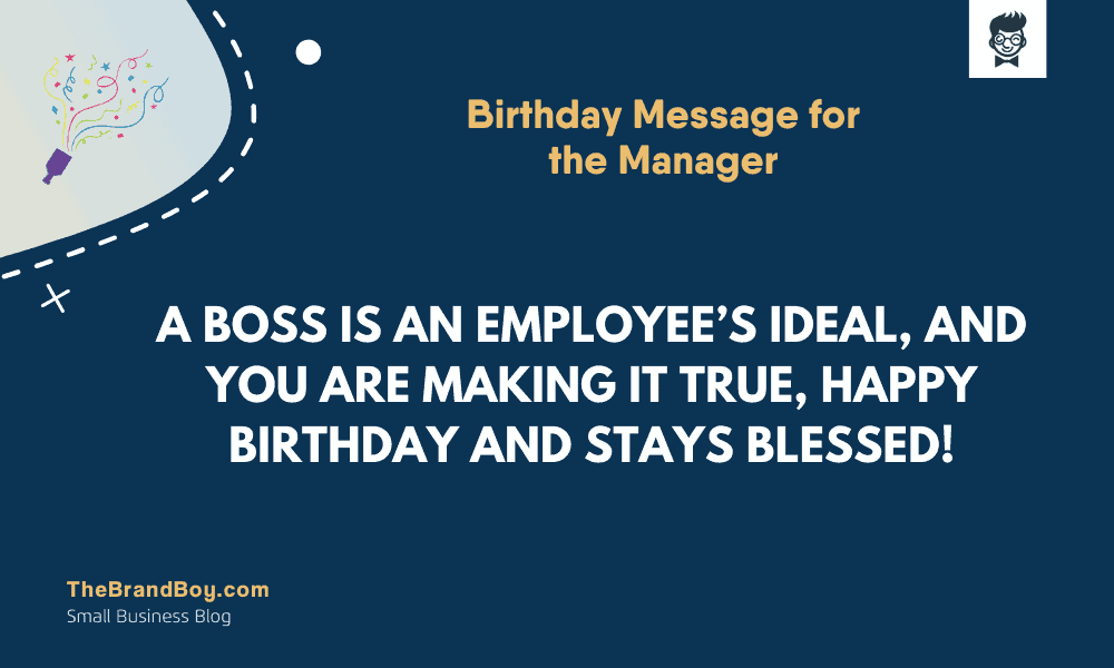 51 Best Birthday Message For The Manager