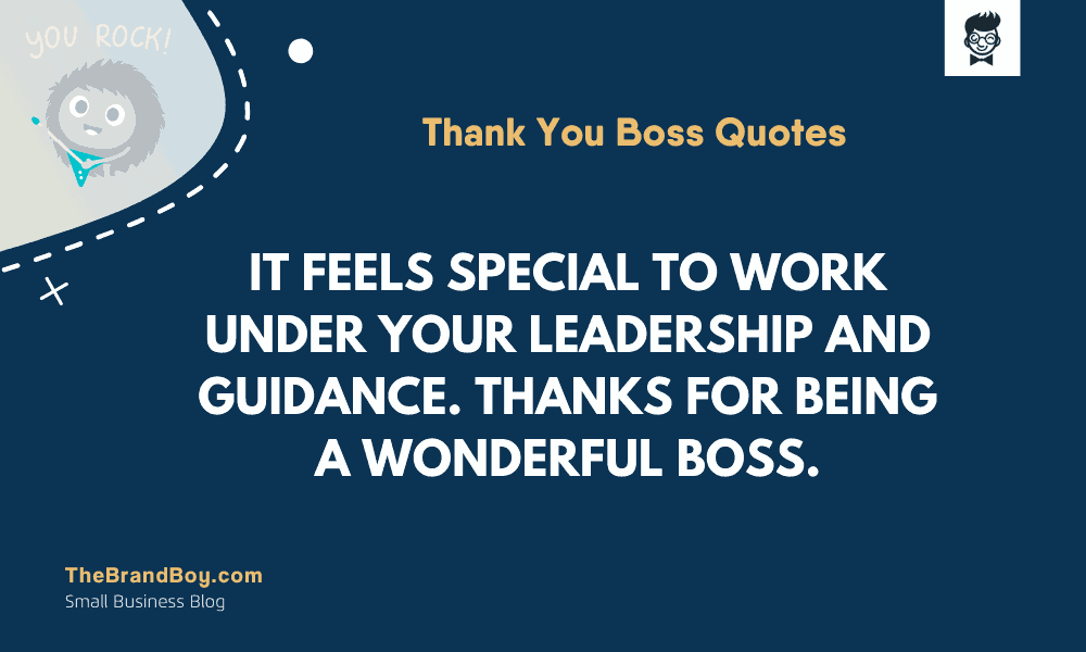 45+ Great Thank You Boss Quotes | Thebrandboy.com