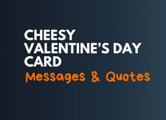 Cheesy Valentine Day Card Messages