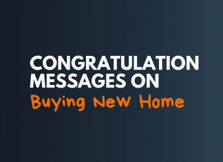 Congratulation Messages On Buying New Home