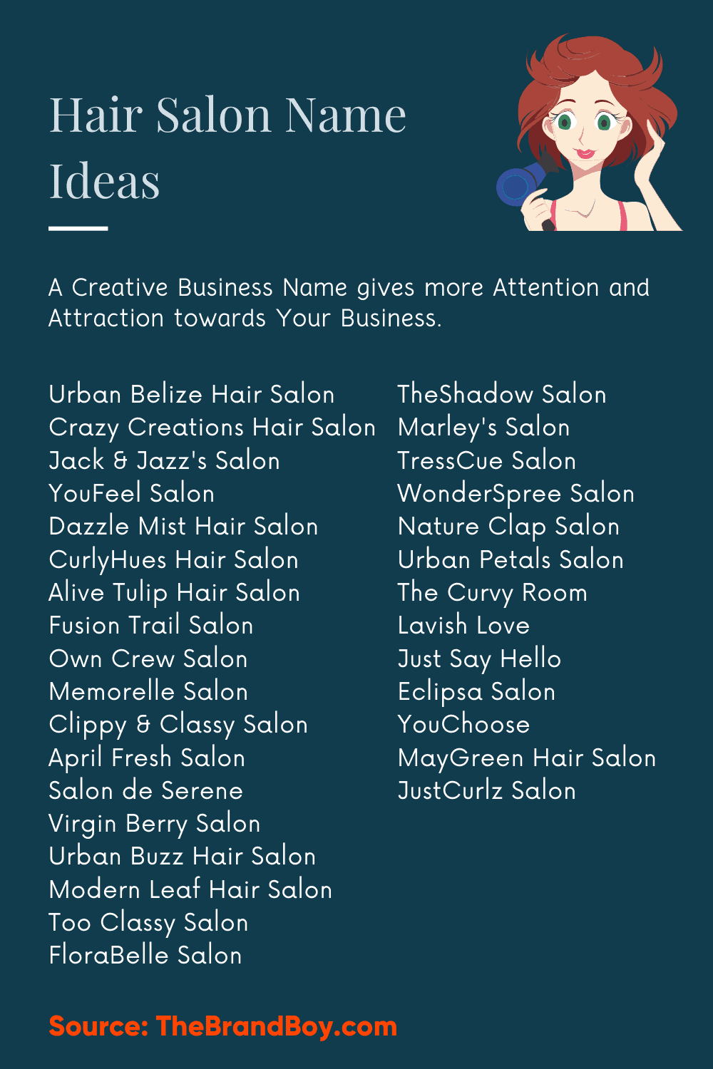 18+ Creative Hair Salon Names & Ideas - theBrandBoy.com