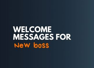 Welcome Messages for New Boss