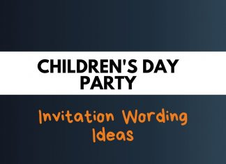 Childrens Day Party Invitation Wording