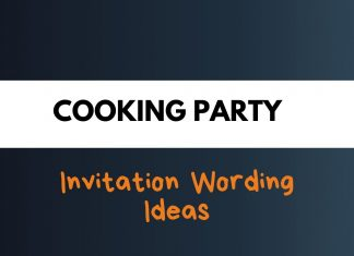 Cooking Party Invitation Wording