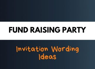 Fundraising Party Invitation Wording